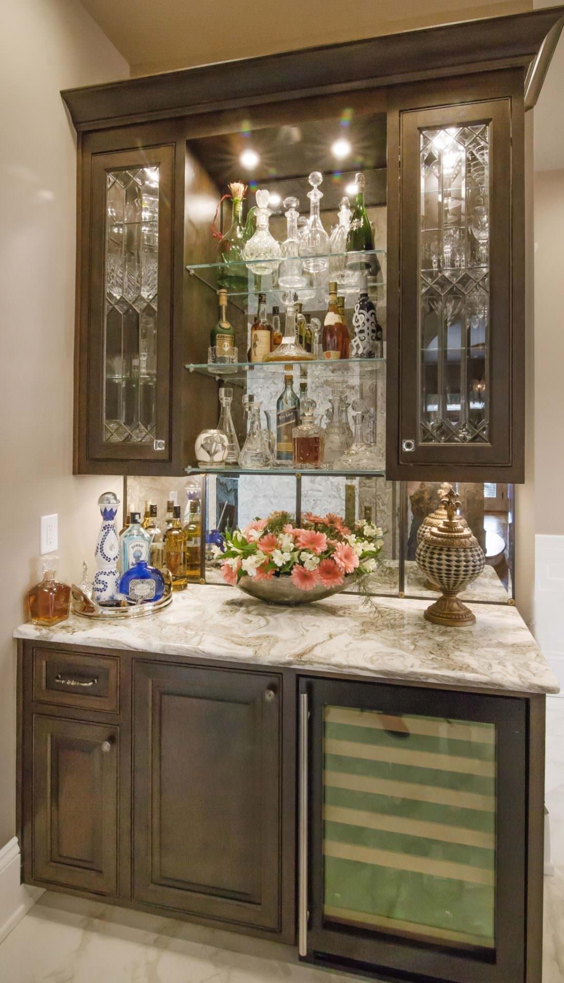 Wet Bar Wine Cooler Gl Shelves Greenbrook Design Center